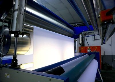 Textile machine for printing with eco solvent inks