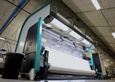 Textile machine for printing with sub dye direct printing route